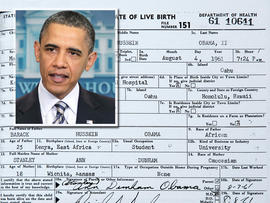 President Barack Obama birth certificate