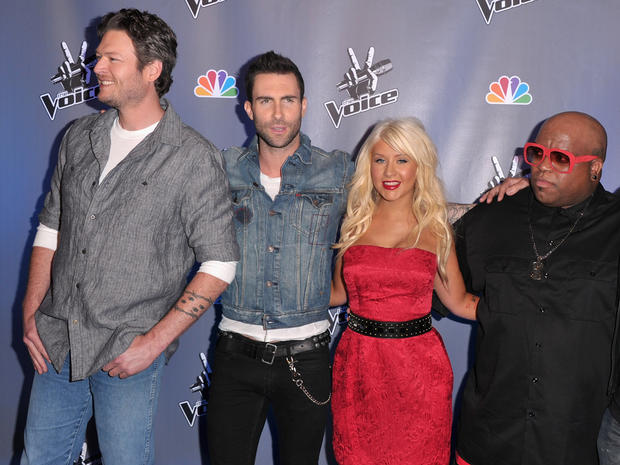 "The ""coaches"" of NBC's new show ""The Voice"""