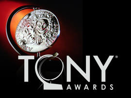 Tony Award trophy and 2011 logo