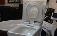 A toilet fit for Steve Jobs