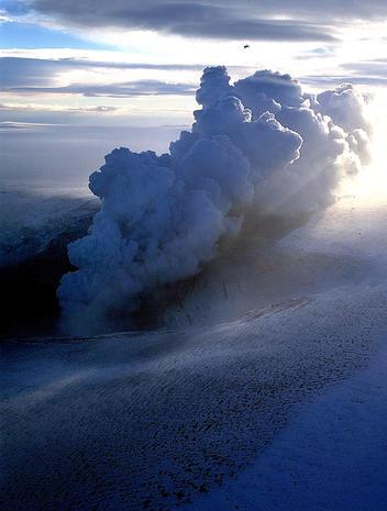 Icelandic volcano erupts