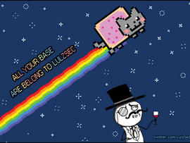 LulzSec and nyan cat