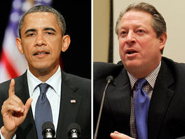 President Barack Obama and former US Vice-President Al Gore