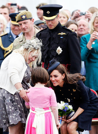 William and Kate on Armed Forces Day