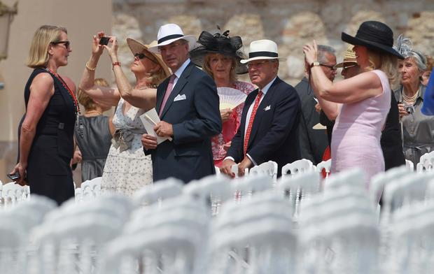 Wedding guests in Monaco