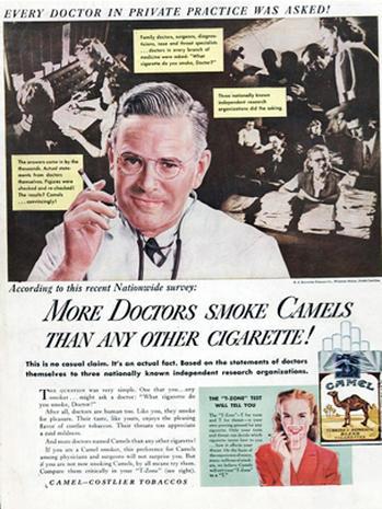 Blowing smoke: Vintage ads of doctors endorsing tobacco