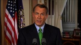 Boehner debt ceiling speech