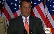 "Boehner to GOP: ""Get in line"" on debt bill"