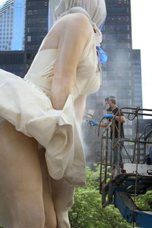 Up-skirt Marilyn Monroe statue: Art or trash?