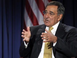 Defense Secretary Leon Panetta speaks during an event at the National Defense University in Washington Aug. 16, 2011.