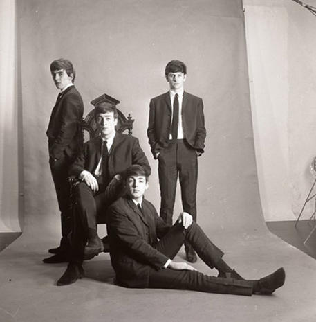 Rare Beatles photos for auction