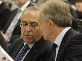 Tony Blair and Palestinian Prime Minister Salam Fayyad