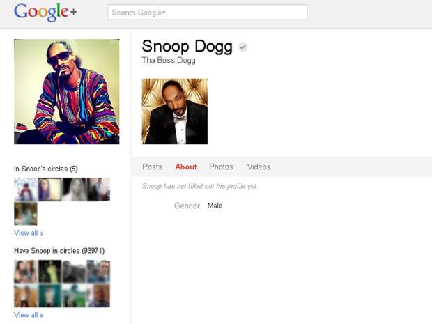 Celebrities on Google+