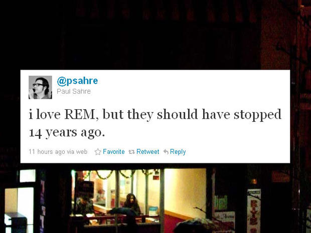 The day after: R.E.M. splits, Twitter reacts