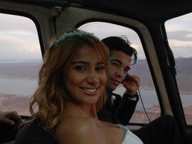 Arturo and Amanda Gatti following their wedding at the Grand Canyon in 2007.