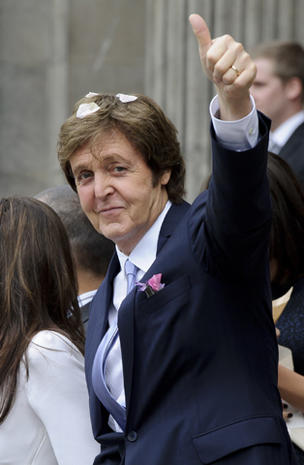 Paul McCartney weds Nancy Shevell
