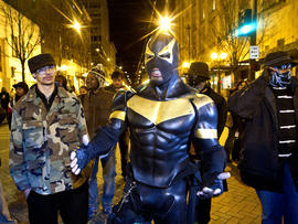 "Seattle ""superhero"" Phoenix Jones arrested for pepper-spray assault"