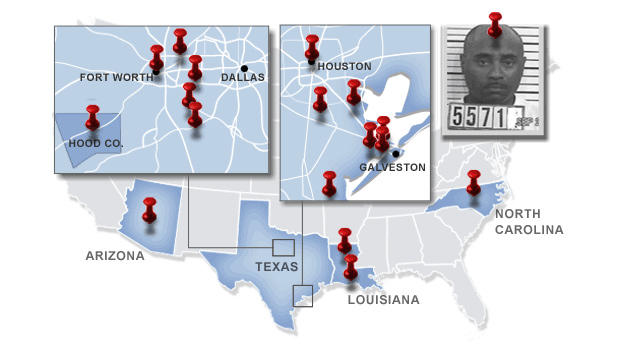 Locations where Kevin Edison Smith has lived