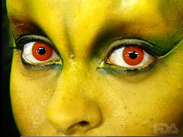 designer contact lenses, FDA