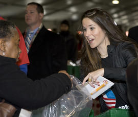 Vice President Joseph Biden's daughter Ashley takes part in 'Operation Gratitude' a public service event at RFK Stadium on Jan. 19, 2009, in Washington, D.C.