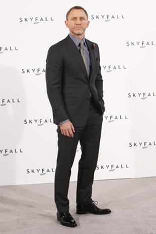 "James Bond's back in ""Skyfall"""