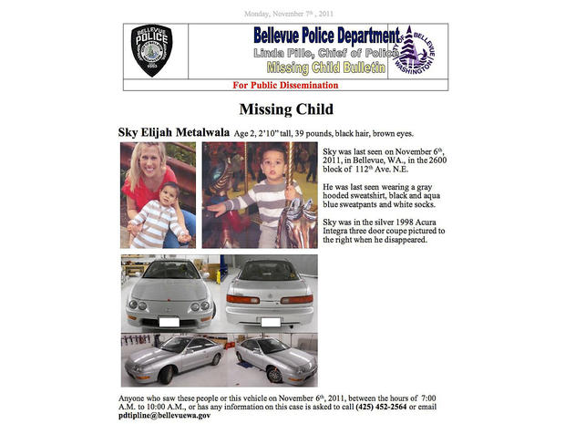 Missing Washington toddler Sky Metalwala