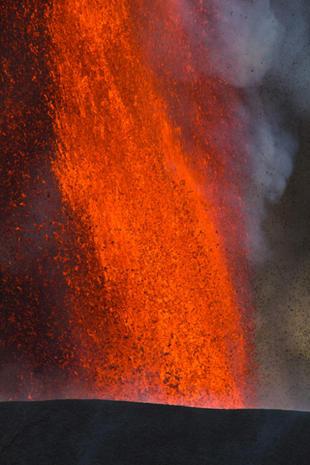 Spectacular eruption in Congo