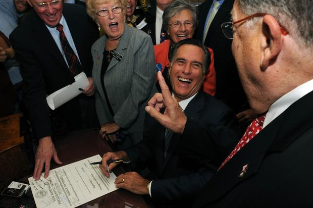 Mitt Romney on the trail