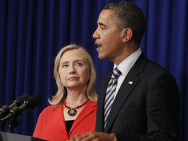 President Obama and Secretary of State Hillary Rodham Clinton