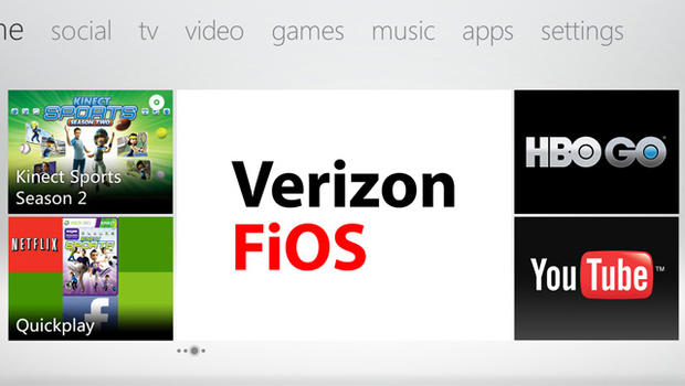 Verizon fios brings live tv channels to xbox 360 cbs news - Television c discount ...