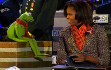 Kermit meets Michelle Obama