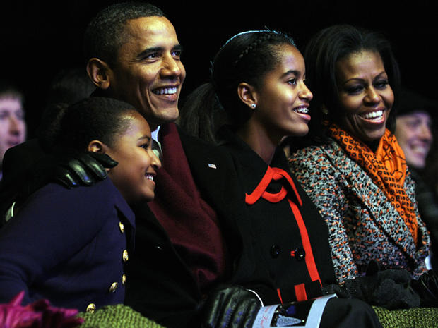 Malia and Sasha Obama