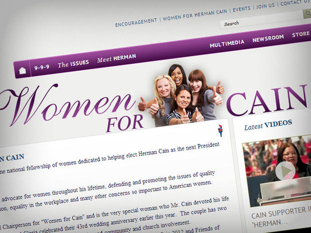 women for cain herman cain