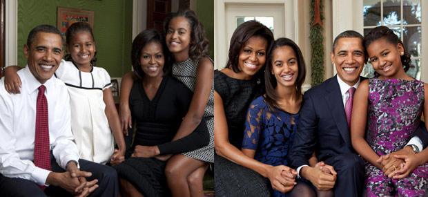 obama family releases new family portrait cbs news