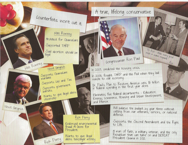 Ron Paul, mailer, Iowa