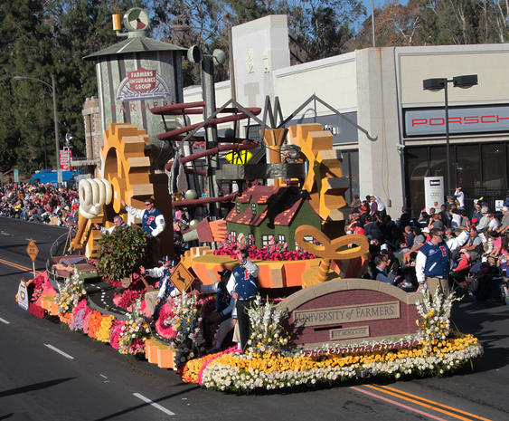 "Rose Bowl parade ""occupied"""