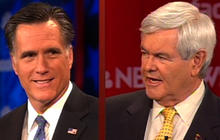 Romney, Gingrich spar on super PAC ads