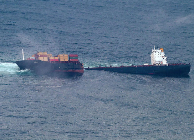 Cargo ship wrecked off New Zealand
