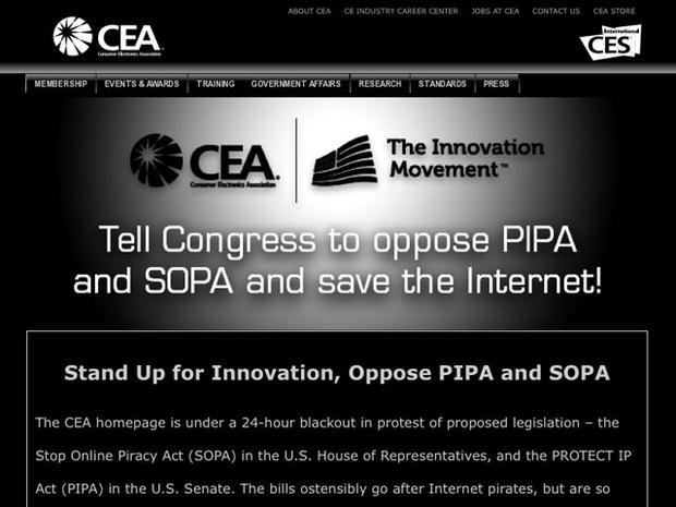 Websites go dark to protest SOPA