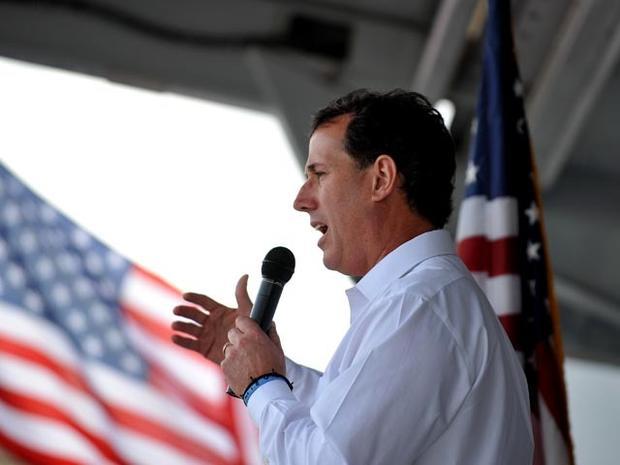 Rick Santorum on the campaign trail