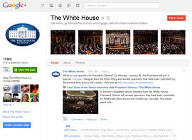 White House Google plus