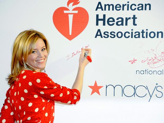 go red for women, national wear red day, american heart association, elizabeth banks