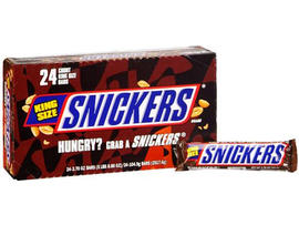 snickers, king-sized snickers, mars, candy bars