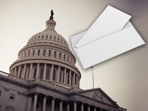 lawmakers, letters, white powdery substance