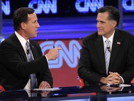 Rick Santorum and Mitt Romney