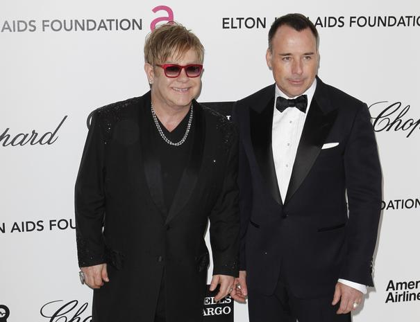 Elton John's Oscar-watching party