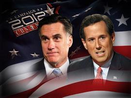 2012 - Elections Mitt Romney Rick Santorum