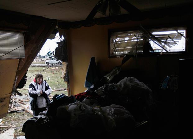 Violent storms ravage several states