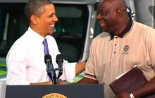 """Obama jokes: """"Can I hear an Amen?"""""""