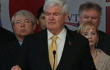 Gingrich to Santorum: We're staying in the race